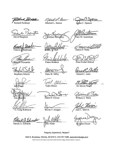endorsement letter with signatures p 1