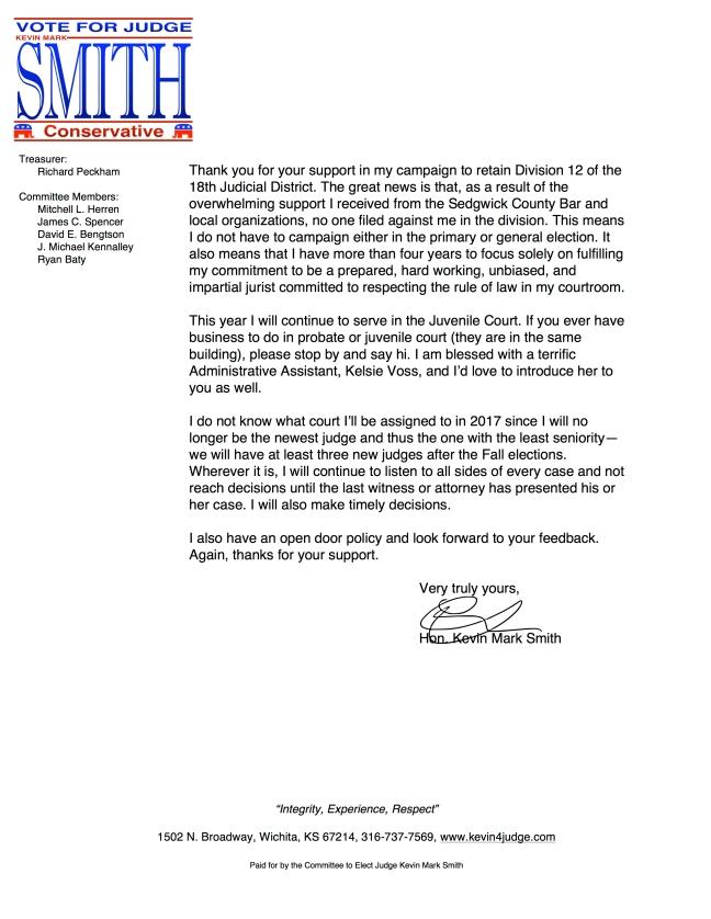 2016 campaign closure letter